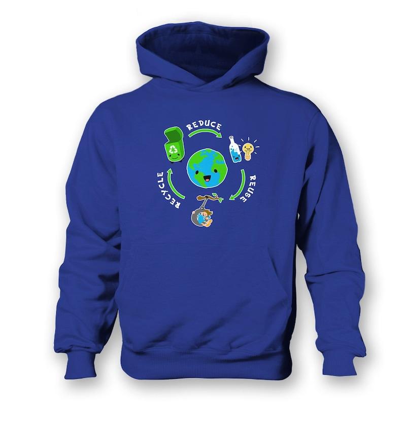 Reduce Reuse Recycle kids hoodie