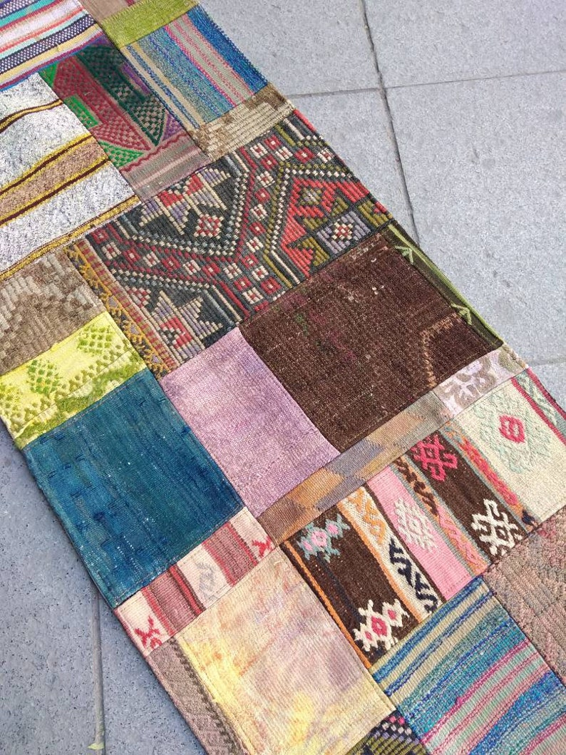76x178 cm 2.49x5.83 ft small patch runner rug,patchwork  oriental rugs rugs runner rugs  decor
