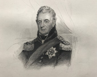 1877 His Most Gracious Majesty William the Fourth Original Antique Engraving - Portrait - Mounted and Matted - Available Framed