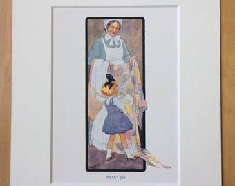 1925 Original Vintage Margaret W. Tarrant Illustration - Available Framed - Wall Decor - Nursery Decor - Children's Book
