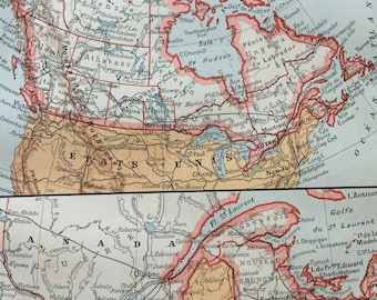 1923 Canada Original Antique Map - Mounted and Matted - Decorative Art - Wall Decor - Cartography - Available Framed