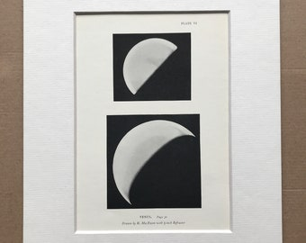 1913 Venus Original Antique Print - Planet - Astronomy - Mounted and Matted - Available Framed