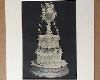 54b1fa32fb0d7 Vintage cake print | Etsy