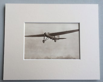 """1931 Matted Aircraft Photo Print  - The Fairey """"Postal""""  - British Aircraft - Aviation - Available Framed"""