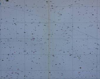 1962 Large Original Vintage Star Map - astrology, astronomy, stars, zodiac, constellations, star-gazing, planets, Celestial Art