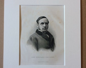 1890 John Morley Original Antique Engraving - Mounted and Matted - Available Framed - Portrait - Portraiture - History