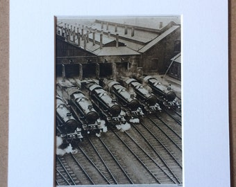1940s Trains on the Great Western Railway Original Vintage Print - Mounted and Matted - Train  Railway - Locomotive - Available Framed