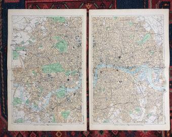 Vintage Wall Maps Etsy - Large decorative maps
