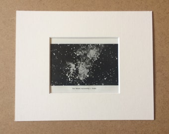 1914 The Nebula surrounding Argus Original Antique Matted Print - Astrology - Star Map - Astronomy - Constellations - Zodiac - Stars