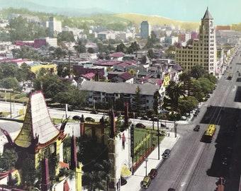 1945 Hollywood Boulevard Original Vintage Photo Print - Los Angeles - LA - Planetarium - California - Retro Decor - Available Framed