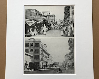 1940s Pakistan - Rawalpindi and Karachi Street Scenes Original Vintage Photo Print - Mounted and Matted - Available Framed