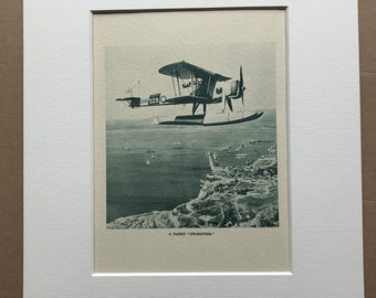 1940 A Fairey 'Swordfish' Original Vintage Print - Mounted and Matted - Aircraft - Airplane - R.A.F. - Available Framed