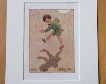 1925 Original Vintage Margaret W. Tarrant Illustration - matted and available framed - Wall Decor - Nursery Decor - Children's Book