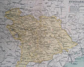 Hyderabad map   Etsy