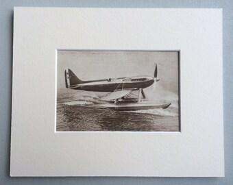 "1931 Original Vintage Photo Print  - The Supermarine ""S6""  - British Aircraft - Aviation - Available Framed"