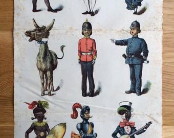 1880 Social Transformations Original Antique print - Dressing up Ideas - Unique Vintage Decor