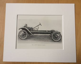 1924 The 22 H.P. Chevrolet Chassis Original Antique Print - 10 x 12 inches - mounted and matted - Motor Car - Automobile - Vehicle