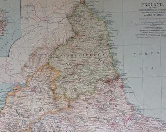 Durham england map | Etsy on