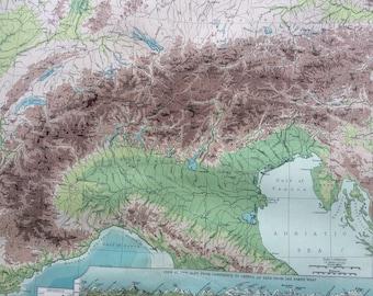 Alps map | Etsy