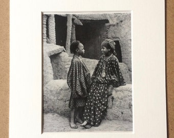 Mounted and Matted Thailand Available Framed Siam 1940s Sampans loaded with Siamese Pottery Original Vintage Photo Print