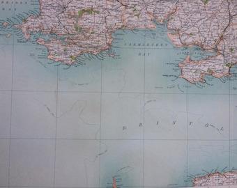 1898 Pembroke Large Original Antique Ordnance Survey Map - City Plan - England - Britain - Cartography - Gift Idea - Local History