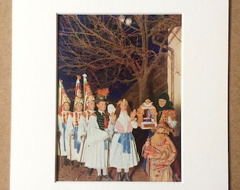 1940s Children's Christmas play in Hungary Original Vintage Print - Mounted and Matted - Available Framed