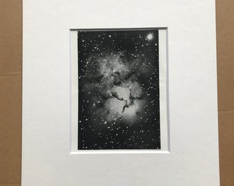 1914 The 'Trifid Nebula' in Sagittarius Original Antique Print - Astrology - Astronomy - Constellations - Available Framed