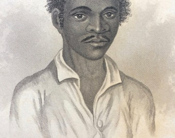 1854 Willinga, Native of the Interior of Australia Original Antique Engraving - Aboriginal Australia - Human Races - Anthropology