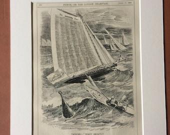 1880 Original Antique Political Satire Print - Punch or the London Charivari - Victorian Decor - Humour - Satirical Print - Wall Decor