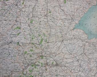 1898 Peterborough Large Original Antique Ordnance Survey Map - City Plan - England - Britain - Cartography - Gift Idea - Local History