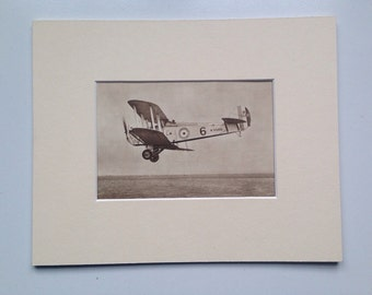 "1931 Aircraft Original Vintage Photo Print  - The Blackburn ""Dart""  - British Aircraft - Aviation - Available Framed"