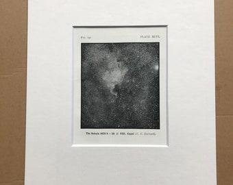 1914 The Nebula 4620 h=58 VIII Cygni Original Antique Print - Astronomy - Available Framed