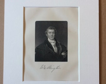1890 Duke of Wellington Original Antique Engraving - Mounted and Matted - Available Framed - Portrait - Portraiture - History