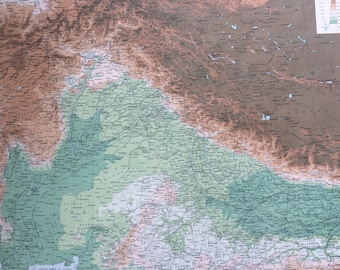 North India Map Etsy