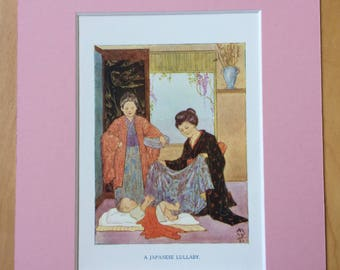 1925 Original Vintage Margaret W. Tarrant Illustration - Available Framed - Wall Decor - Nursery Decor - Children's Book