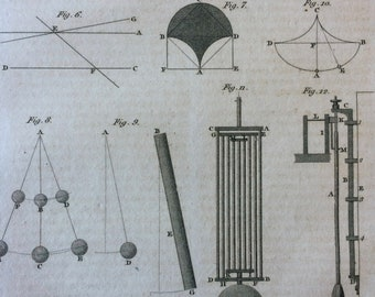 1809 Original Antique Engraving - Engraved Encyclopaedia Illustration - Vintage Wall Art - Gift Idea