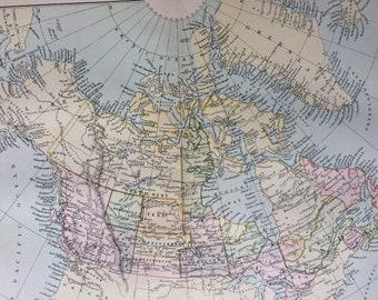 1891 Dominion of Canada Original Antique Map - Gift Idea - Vintage Map - Wall Decor