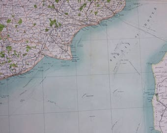 1898 Dover Large Original Antique Ordnance Survey Map - City Plan - England - Britain - Cartography - Gift Idea - Local History