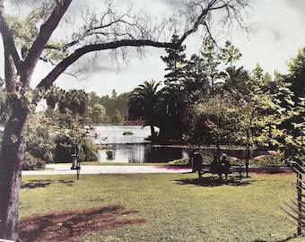 1945 Echo Park Original Vintage Photo Print - Los Angeles - LA - California - Retro Decor - Available Framed