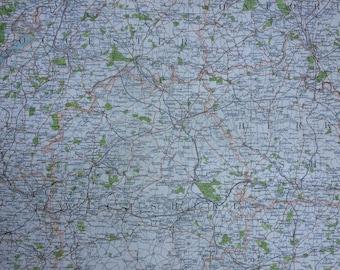 1898 Wiltshire Large Original Antique Ordnance Survey Map - City Plan - England - Britain - Cartography - Gift Idea - Local History