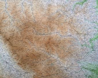 1903 DURHAM & APPLEBY Large Original Antique Map, 17.5 x 23 inches, historical wall decor, Bartholomew map, Home Decor, Cartography