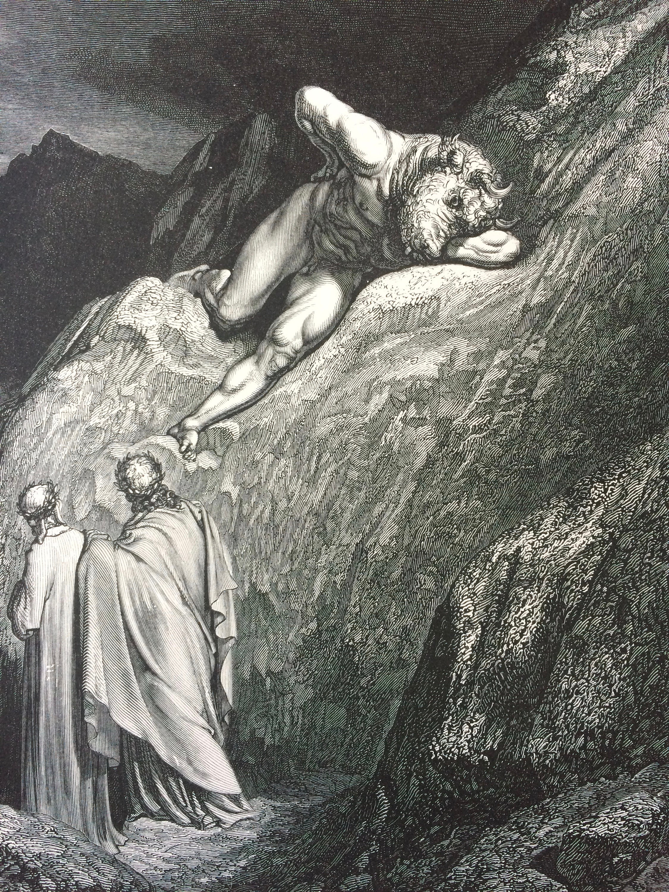 1870 Dante S Inferno Original Antique Gustave Dore Engraving