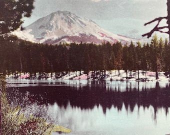 1944 Mount Lassen Original Vintage Photo Print - California - Volcano - Mounted and Matted - Available Framed