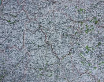 1898 Radnor Large Original Antique Ordnance Survey Map - City Plan - England - Britain - Cartography - Gift Idea - Local History