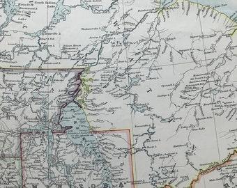 1906 Manitoba Original Antique Map - Mounted and Matted - Available Framed - Canada - Keewatin - Athabaska - Ontario