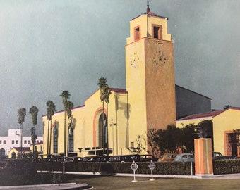 1943 Union Station, Los Angeles Original Vintage Photo Print - LA - California - Retro Decor - Available Framed