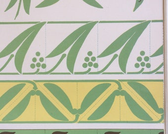1903 Nature Forms in Design Original Antique Matted Lithograph - Wall Decor - Fine Art - Decorative Art - Pattern - Art Deco - Home Decor