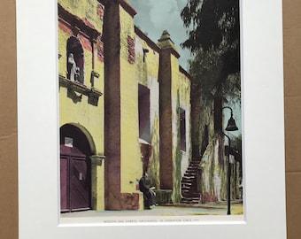1945 Mission San Gabriel Archangel, Los Angeles Original Vintage Photo Print - California - Retro Decor - Available Framed