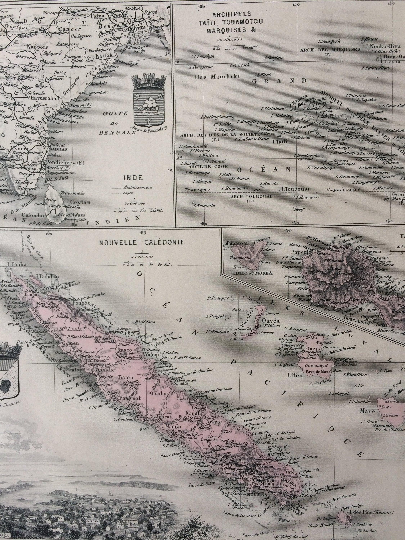 1890 French Polynesia Large Original Antique Map - Tahiti ... on large map of australia, large map of pacific northwest, large map of chesapeake bay, large map of guam, large map of maui, large map of southeast asia, large map of singapore, large map of pacific ocean, large map of northern europe, large map of the west indies, large map of the philippine islands, large map of british isles, large map of puerto rico, large map of st. maarten, large map of france, large map of holy land, large map of fiji, large map of central america, large map of south pacific, large map of new england,