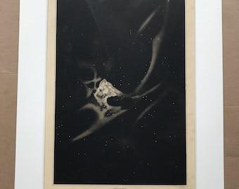 1882 Original Antique Lithograph - Orion Nebula - Zodiac - Celestial Art - Astronomy - Astrology - Victorian Wall Decor